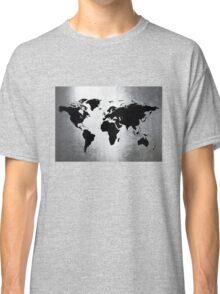 World Map Metal Classic T-Shirt