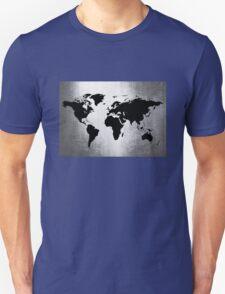 World Map Metal T-Shirt