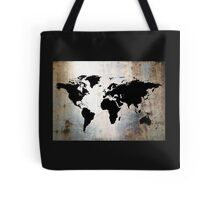 World Map Rusted Metal  Tote Bag
