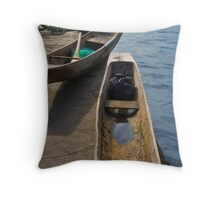 Boats - Lake Toba, Sumatra Indonesia Throw Pillow