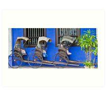 Rickshaws - Penang Art Print