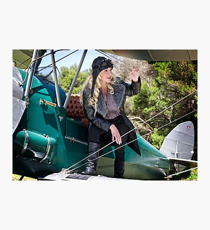 Flygirl Jacqui Photographic Print