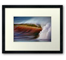 Oxnard Wave 2 Framed Print