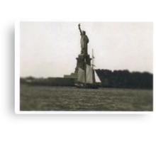 The Dutch arrive in New Amsterdam Canvas Print