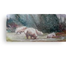 First Storm of the Season Canvas Print
