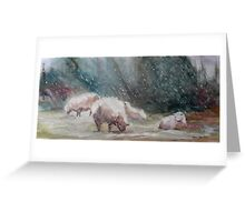 First Storm of the Season Greeting Card