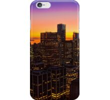 Canada. Vancouver, BC. Sunset in the Downtown. iPhone Case/Skin