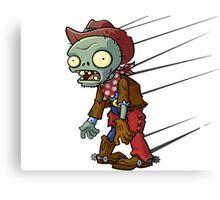 Planet vs Zombies Shirt Canvas Print