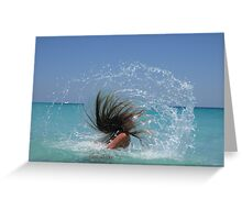 aquawoman hairsplash 13 Greeting Card