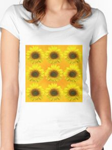 SUNFLOWERING Women's Fitted Scoop T-Shirt