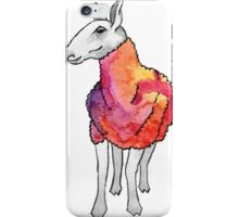Psychedelic sheep: Blue Faced Leicester, red/violet iPhone Case/Skin