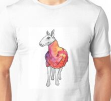 Psychedelic sheep: Blue Faced Leicester, red/violet Unisex T-Shirt