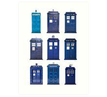 TARDIS Typology Art Print