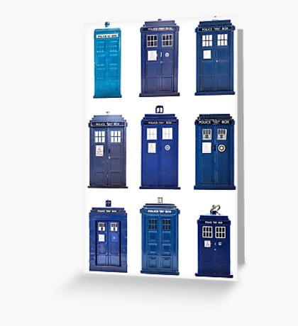 TARDIS Typology Greeting Card