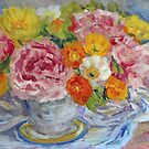 Peonies and Poppies Still Life  by TerrillWelch