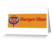 Burger Shot Greeting Card