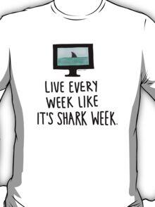 30 Rock- Live Every Week Like It's Shark Week T-Shirt