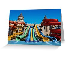 Sunny Beach Water Park, BULGARIA Greeting Card