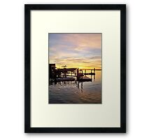 Reflect Upon the Day at Sea Framed Print