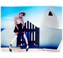 High Fashion Santorini Fine Art Print Poster