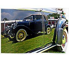 Classic Car Reflection Poster