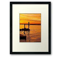 Colors of Jamaica Bay Framed Print
