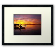 Evening Colors of Jamaica Bay Framed Print