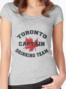 "Toronto Canada ""Drinking Team Captain"" Women's Fitted Scoop T-Shirt"