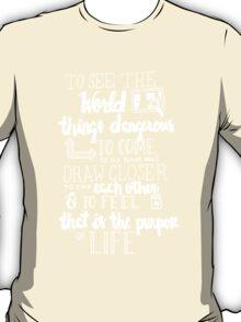 Walter Mitty Life Motto - White T-Shirt