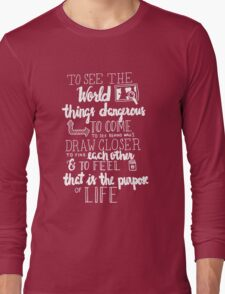 Walter Mitty Life Motto - White Long Sleeve T-Shirt