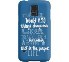 Walter Mitty Life Motto - White Samsung Galaxy Case/Skin