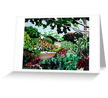 Plein Air in the Garden Greeting Card