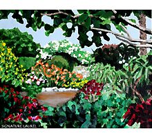 Plein Air in the Garden Photographic Print