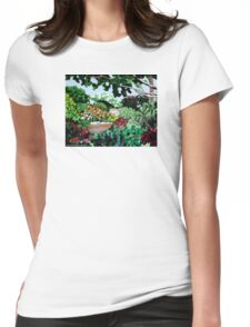 Plein Air in the Garden Womens Fitted T-Shirt