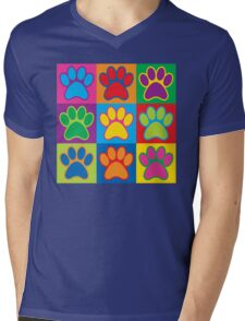 Pop Art Paws Mens V-Neck T-Shirt