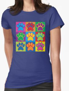Pop Art Paws Womens Fitted T-Shirt