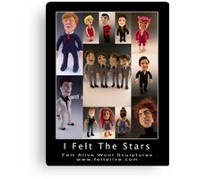 Needle Felted Celebrities by Felt Alive Canvas Print