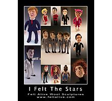 Needle Felted Celebrities by Felt Alive Photographic Print