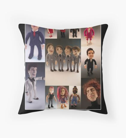 Needle Felted Celebrities by Felt Alive Throw Pillow