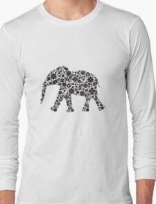 Flower Elephant:Black  Long Sleeve T-Shirt