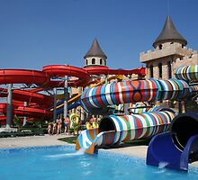Water slide in Sunny Beach Aqua park, Bulgaria by Atanas Bozhikov NASKO