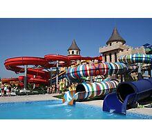 Water slide in Sunny Beach Aqua park, Bulgaria Photographic Print