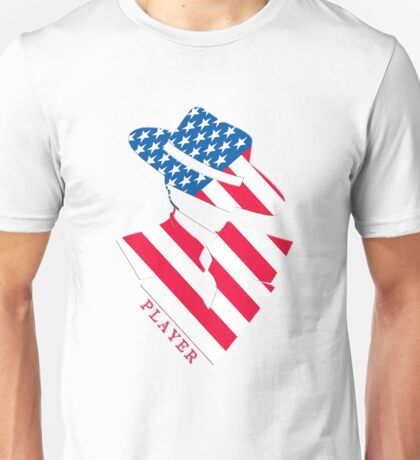 Stars and Stripes Player Unisex T-Shirt