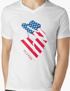 Stars and Stripes Player Mens V-Neck T-Shirt