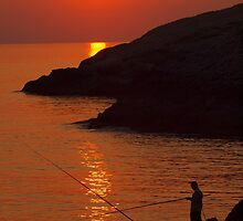 Sunset at Wied Iz-Zurrieq - Malta by Patrick Anastasi