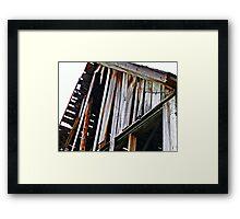 Decaying Barn Framed Print