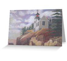 Light House - Maine Greeting Card