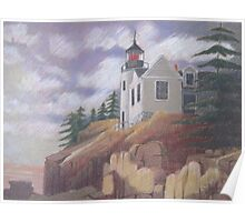 Light House - Maine Poster