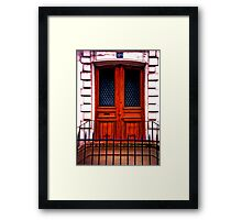 Paris Doorway Framed Print