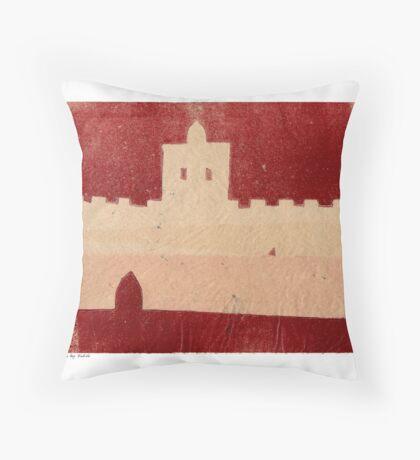 marrakech castle Throw Pillow